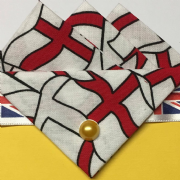 St. Georges Cross Three Point Pocket Hankie & Pin